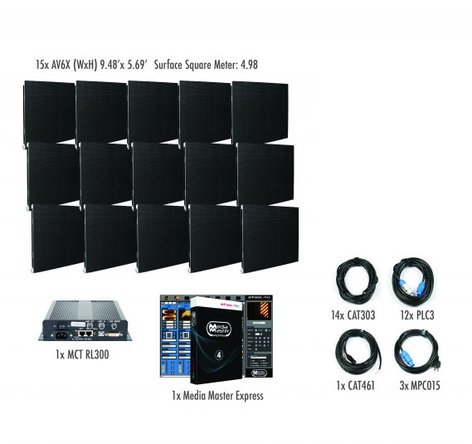 ADJ AV6X-IS-5x3 5x3 AV6X Video Wall Package for Permanent Installation AV6X-IS-5x3