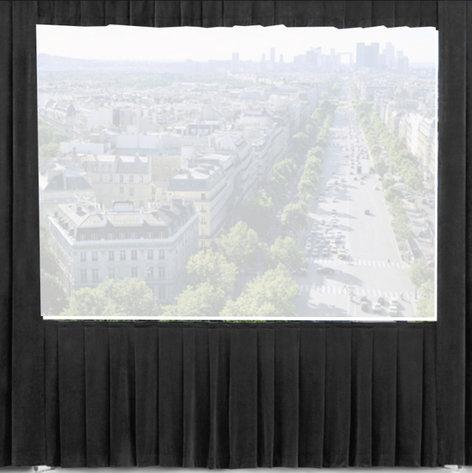 Da-Lite 36611  8.5 ft x 11 ft Black Ultra Velour Drape for Fast-Fold Deluxe Frames 36611
