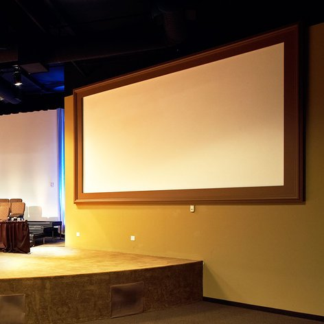 """Draper Shade and Screen 253791  220"""" Onyx Projection Screen with Vel-Tex Finish 253791"""