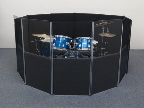 Clearsonic IPD 6 ft x 6 ft x 4 ft Drum Shield Kit IPD