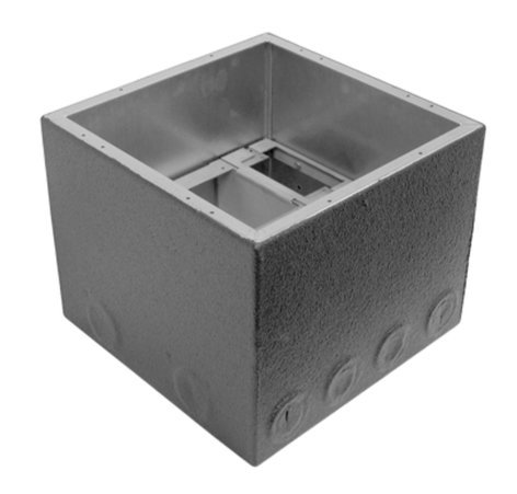 "Ace Backstage BRK1028BBXW 8"" Polyurethane Encapsulated Extra Deep Full Stage Pocket Back Box BRK1028BBXW"