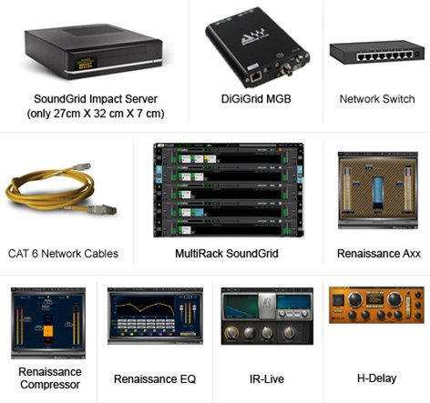 Waves DiGiGrid MGB + Impact Server System MGB/Switch/MultiRack/Impact MGBSI