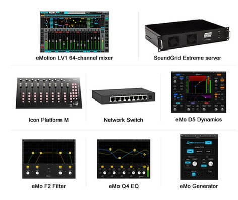 Waves EMSGXCMB  eMotion LV1 Extreme Server Combo with Platform M EMSGXCMB