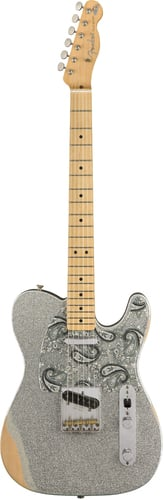 Fender Brad Paisley Road Worn Telecaster, Silver Sparkle Finish BRAD-PAISLEY-TELE