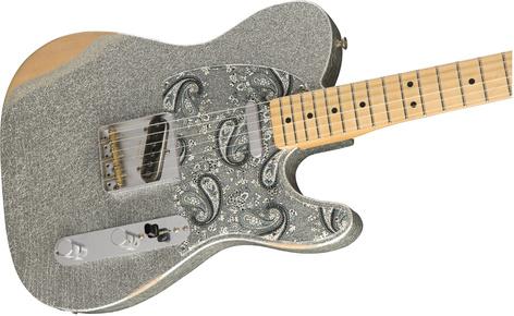 Fender BRAD-PAISLEY-TELE Brad Paisley Road Worn Telecaster, Silver Sparkle Finish BRAD-PAISLEY-TELE