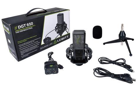Lewitt DGT 650 Stereo / Cardioid USB Microphone for iOS, PC, Mac AMS-DGT-650