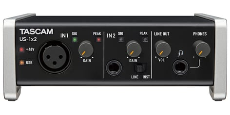 Tascam US-1x2 2 In - 2 Out USB Audio Interface US1X2