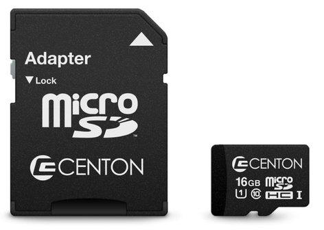 Centon S1-MSDHU1-16G 16GB MicroSDHC UHS-1 Card S1-MSDHU1-16G