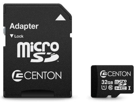 Centon S1-MSDHU1-32G 32GB MicroSDHC UHS-1 Card S1-MSDHU1-32G