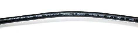 Elite Core Audio SUPERCAT5E-S-RR 50 ft Ultra Durable Shielded Tactical CAT5E Cable with Booted RJ45 Connectors SUPERCAT5E-S-RR-50
