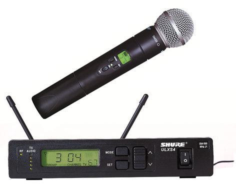 Shure ULXS24/58-J1 Wireless Handheld Microphone System with ULX2/58 Cardioid Dynamic Mic, 554-590 MHz ULXS24/58-J1