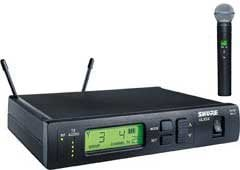 Shure ULXS24/BETA58-J1 Wireless Handheld Microphone System with ULX2/BETA58A Cardioid Dynamic Mic, 554-590 MHz ULXS24/BETA58-J1