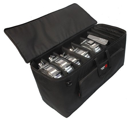 "Gator Cases GP-EKIT2816-BW 28""x16""x16"" Padded Electronic Drum Kit Bag with Wheels and Divider System GP-EKIT2816-BW"