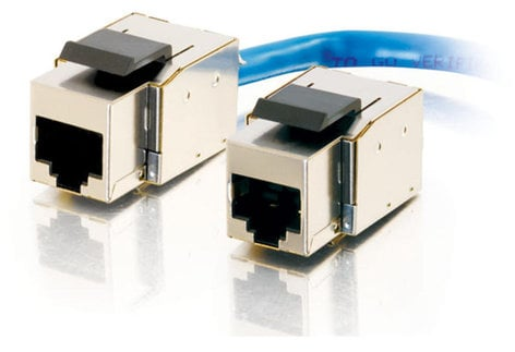 Cables To Go Cat5E RJ45 UTP Shielded Toolless Keystone Jack, TAA Compliant 35228