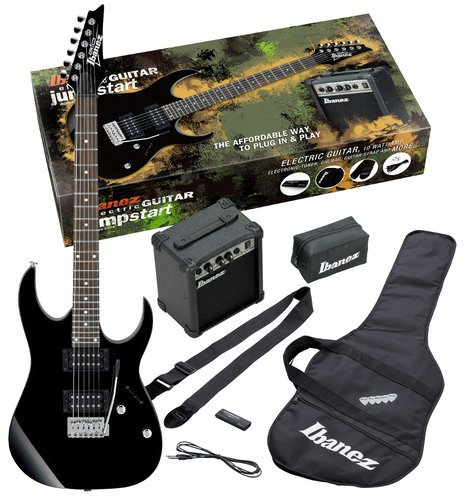Ibanez IJRG220ZBK Jumpstart Pack with Black GRG Electric Guitar IJRG220ZBK