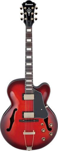 Ibanez AFJ95BSRD Artcore Expressionist Electric Guitar, Sunset Red Finish AFJ95BSRD