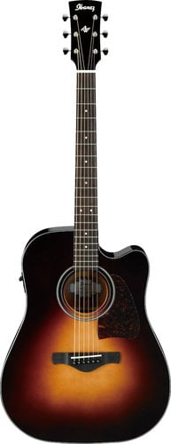 Ibanez AW4000CEBS Brown Sunburst High Gloss Artwood Acoustic / Electric Guitar AW4000CEBS