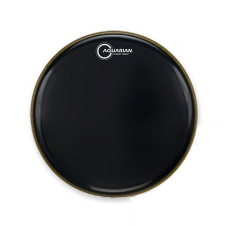 """Aquarian Drumheads CC14BK  14"""" Classic Clear Gloss Black Drumhead CC14BK"""