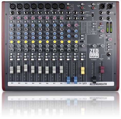 Allen & Heath ZED-60/14FX 14 Channel Mixer with FX and 60mm Faders ZED-60/14FX