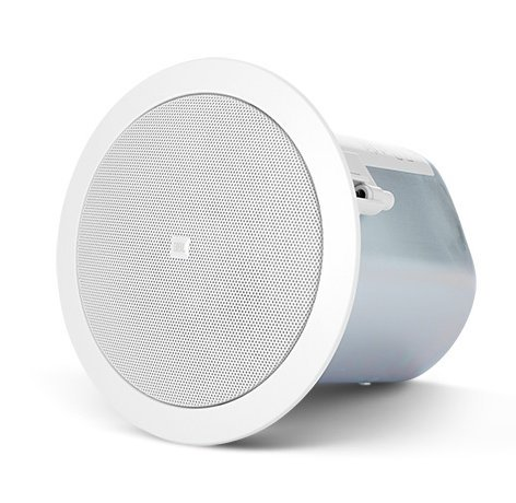 "JBL Control 24CT 4"" 2-Way Ceiling Speaker with 70V/100V Transformer in White CONTROL-24CT"