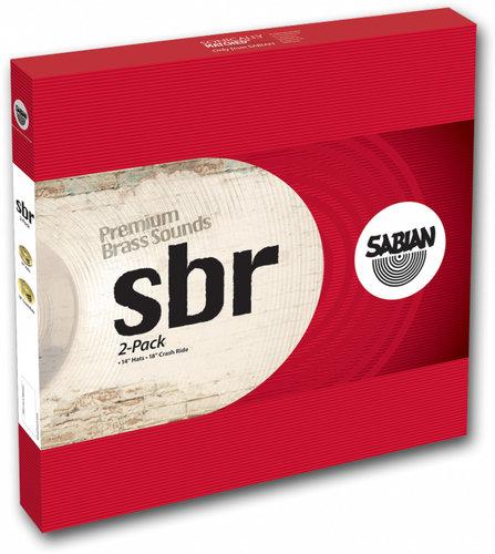 "Sabian SBR5002 SBR Two Pack Cymbal Set with 14"" Hi-Hats and 16"" Crash Ride Cymbal in Natural Finish SBR5002"