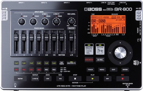 Boss BR800 [EDUCATIONAL DISCOUNT] Digital Recorder, 8-track (4-track simultaneous recording) BR800-EDU