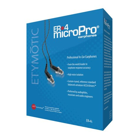 Etymotic Research Inc ER•4S microPro Earphones with Balanced Armature Drivers ER4S