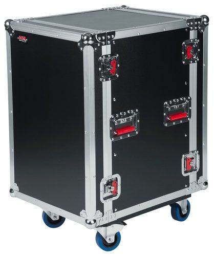 Gator Cases G-TOUR 16U CAST 16RU ATA Style Rack Case with Locking Caster Board G-TOUR-16U-CAST