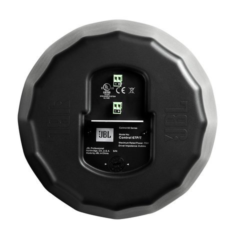 "JBL Control 67 P/T 6-1/2"" Pendant Speaker in Black with RBI Radiation Boundary Integration Technology C67P/T"