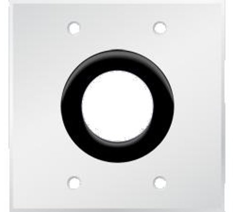 """PanelCrafters PC-G2900-E-P-E  Bulk Wire Wall Plate with 1-1/2"""" Grommet Hole, Powdercoated White PC-G2900-E-P-E"""