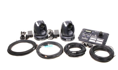 Datavideo Corporation GO-2CAM  Two Remote Camera Kit with Controller, Cables, and Hand Case GO-2CAM