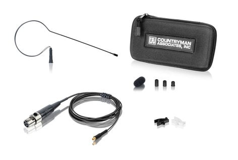 Countryman E6OW6B-SM E6OW6B1SM Omnidirectional Earset Mic for Lectrosonics, Black, 1mm Cable E6OW6B-SM