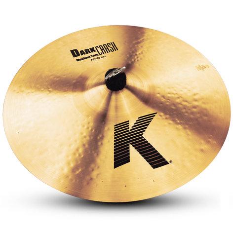 """Zildjian K0915 18"""" K Dark Medium Thin Crash Cymbal K0915"""