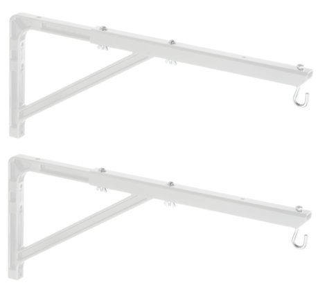 Da-Lite 40933 Pair of White No. 23 Wall Brackets with Extensions 40933