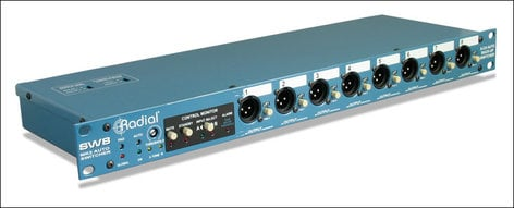 Radial Engineering SW8 [RESTOCK ITEM] Auto Switcher, Line Level, 8 Channels SW8-RST-01