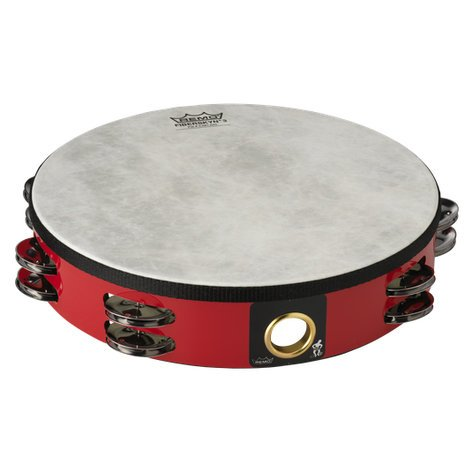 "Remo TA5210-52-RED 10"" Pretuned Tambourine in Deep Red TA5210-52-RED"