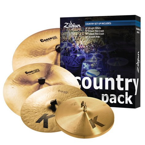 Country Music Cymbal Pack by Zildjian, K0801C   Full Compass Systems