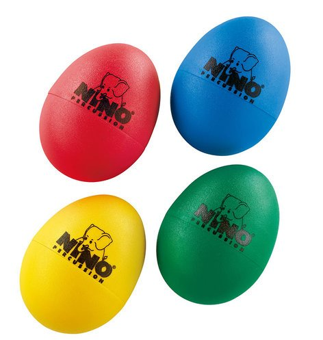 NINO Percussion NINOSET540 4 Piece Set of Plastic Egg Shakers NINOSET540
