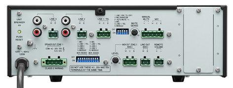TOA BG2060 [RESTOCK ITEM] 60W 5-Input Mixer/Amplifier BG2060-RST-04