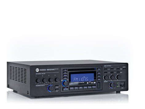 RCF ES-3323-MK2 4-Channel 3-Zone 320W RMS Mixer/Amplifer with CD And USB-MP3 Playback ES-3323-MK2