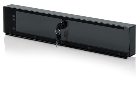 Gator GRW-PNLSECPLX-2 NLSECPLX2 2RU Hinged Plexiglass Security Panel GRW-PNLSECPLX-2