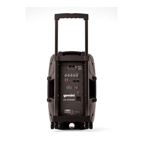 "Gemini AS-12TOGO 12"" Active Portable Bluetooth Loudspeaker AS-12TOGO"
