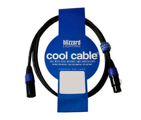 Blizzard Lighting DMX-3Q 3ft 22 AWG 3-Pin 120 Ohm DMX Male to Female Cable DMX-3Q