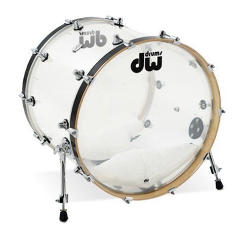 "DW DDAC1822KKCL 18x22"" Design Series Clear Acrylic Bass Drum DDAC1822KKCL"