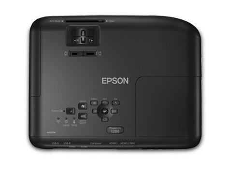 Epson PowerLite 1286 3600 Lumen Wireless WUXGA 3LCD Full HD Portable Projector POWERLITE-1286