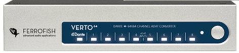 Ferrofish Verto 64 64x64 Channel Dante Converter ADAT VERTO-64