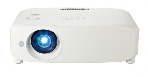 Panasonic PT-VZ585NU 5000 Lumen WUXGA LCD Projector with 1.6x Manual Zoom Lens in White PTVZ585NU