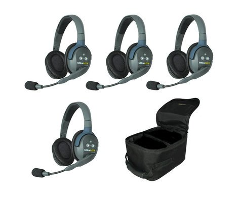 d8691ff4534 Eartec Co UL4D 4-Person UltraLITE Wireless System With Double Ear Headsets