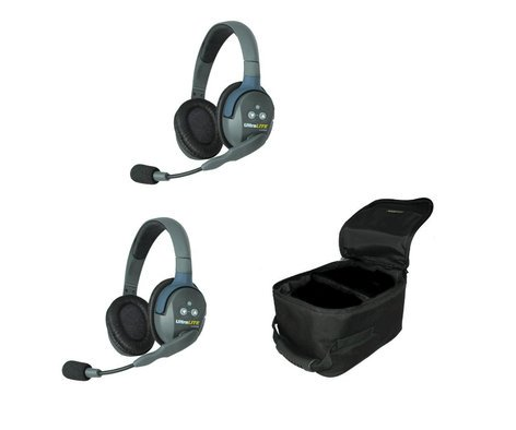 Eartec Co UL2D UltraLITE 2-Person System featuring 2 Double Headsets UL2D