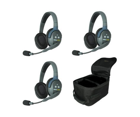 Eartec Co UL3D UltraLITE 3-Person System featuring 3 Double Headsets UL3D